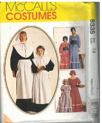 8335 McCalls SEWING Pattern Thanksgiving Puritan Peasant Prair...