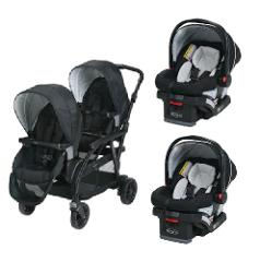 Graco Double Twin Stroller Travel System with 2 Infant Car Sea...