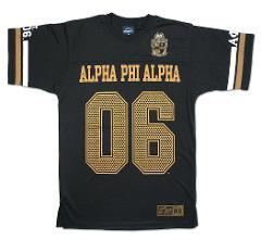 Alpha Phi Alpha Fraternity Football Jersey Black Gold Football...