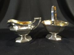 Vintage Wilcox International Silver Co. Art Deco Cream & Sugar...