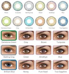 Freshlook Colorblends Hazel Cosmetic Colored Contact Lenses 0.00