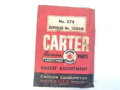 Vintage Carter Carburetor Gasket Assortment No. 278 Chrysler N...