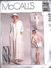 8149 McCalls Sewing Pattern Misses NY NY Loose Dress Boxy Jack...