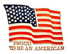 Proud to be an American Flag Fridge Magnet