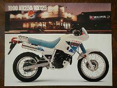 90 HONDA NX250 NX125 NOS OEM DEALER'S SALES SHEET BROCHURE NX ...