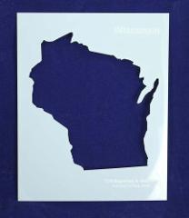 State of Wisconsin Stencil -14 mil Mylar Painting/Crafts