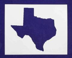 State of Texas Stencil - 14 X 17.5 Inches