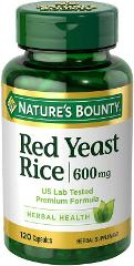 Red Yeast Rice 600mg 120 Capsules By Nature's Bounty Exp 2022+...