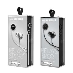 SOL REPUBLIC Relays Sport Wired 3-Button In-Ear Headphones - A...