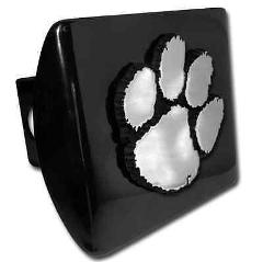 Clemson University (Paw) on Black Hitch Cover