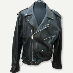 Himalaya Motor Bike Wear Men's 3XL 48 Black Leather Coat Jacke...