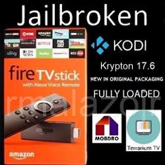 Jailbroken Fire TV Stick w/ Alexa Voice Remote-2nd Gen Quad Co...