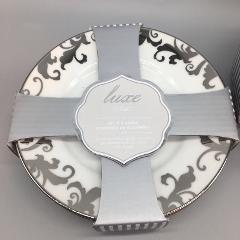 4pc CIROA Fiori Scroll Metallic Silver 6