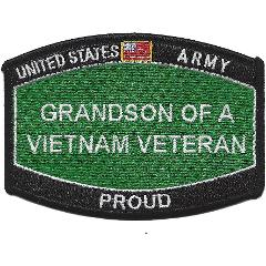 U.S. Army Grandson of a Vietnam Veteran Patch - PROUD