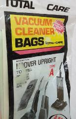 Vacuum Cleaner Bags T548 Type A 4 Bag Pack Total Care