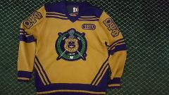 OMEGA PSI PHI FRATERNITY SWEATER GOLD V-NECK SWEATER HEAVYWEIG...