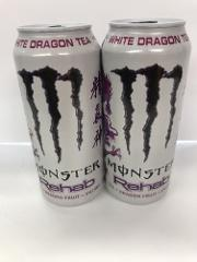 Monster Energy Drink Rehab White Dragon Tea 15.5oz Cans. A Tot...