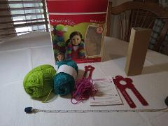 American Girl doll Crafts Pom-Pom scarves kit SOME ITEMS USED ...