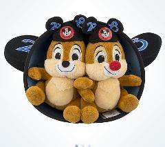 Disney Parks 2018 Chip N' Dale Ear Hat Plush Set 6