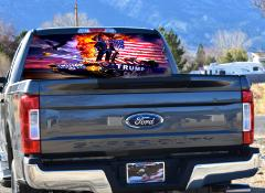 Trump Victory, Rear Window Graphics, Perforated Vinyl, Custom ...