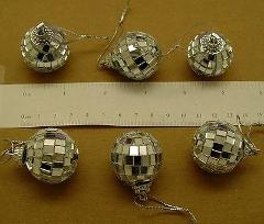 LOT of 48 Mirror Ball Ornaments 1-1/8