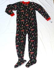 Boy Carters Fleece Footed pajama Blanket Sleeper Size 6 Christ...