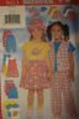 5023 Vintage Butterick SEWING Pattern Girls Vest Dress Top Ski...