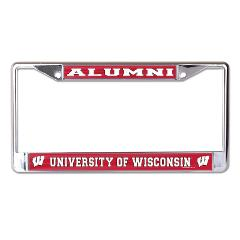 University of Wisconsin W Logo Alumni Chrome License Plate Frame