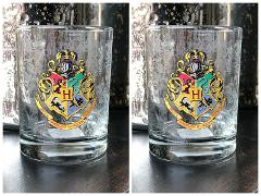 Universal Studio Harry Potter Hogwarts Crest Stain Short Glass...