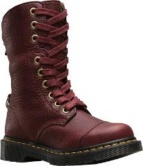 Dr. Martens Aimilita 9-Eye Toe Cap Boot (Women's) in Cherry Re...