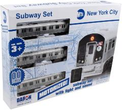 York MTA New York City 3 Pc. Battery Operated Train Set with T...