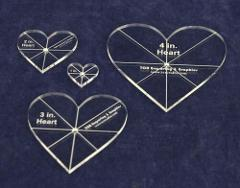 Heart Template 4 Piece Set. 1