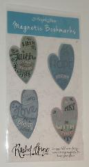 Magnetic Bookmarks Heart Shape Faith Love Heart Peace Angel St...