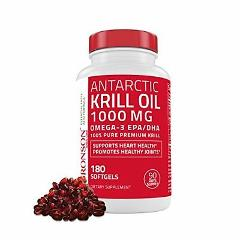 Bronson Antarctic Krill Oil 1000 mg with Astaxanthin 180 Softg...