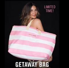 Victoria's Secret Duffle Beach Weekender Getaway Tote Bag Pink...