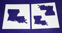 State of Louisiana 2pc Stencil Mylar 14 Mil- 4