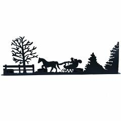Winter Scene Silhouette Candle Holder Mantle Decoration Chris...