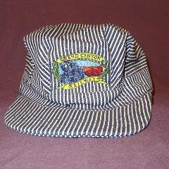 Grand Canyon Railway Train Conductor Blue Striped Snapback Hat...