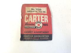 Vintage Carter Carburetor Gasket Assortment No. 212D Chrysler ...