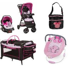 Mickey Mouse Baby Gear Bundle,Stroller Travel System,Play Yard...