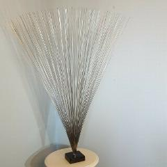 Abstract Metal Spray Sculpture Mid Century Modern Bertoia Styl...