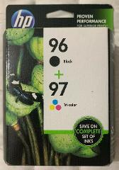 Genuine HP 96 97 Black and Color Ink Cartridges C9353FN OEM Se...