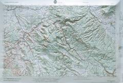 Moab USGS Regional Raised Relief Map in the states of CO & UT