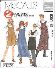 8351 Vintage McCalls SEWING Pattern Misses EASY Jumper 2 Hour ...