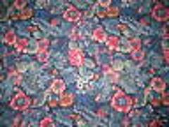 Blue Roses Flowers Fabric Cotton NEW Material 34