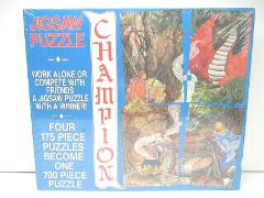 VTG 1990 Champion Puzzle Fantasy Dragon Battle Witch Craft Lau...