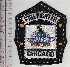 Chicago Fire Department & Chicago White Sox Baseball Team Helm...