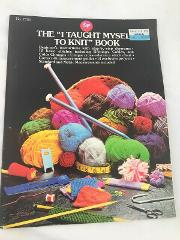 I taught myself to knit pattern instruction book