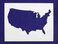 USA (United States) Stencil 14 Mil Mylar - Painting /Crafts/ T...