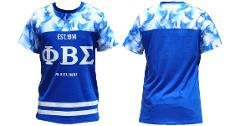 PHI BETA SIGMA short sleeve T-SHIRT Sublimation Greek Fraterni...